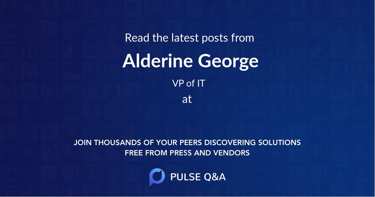 Alderine George