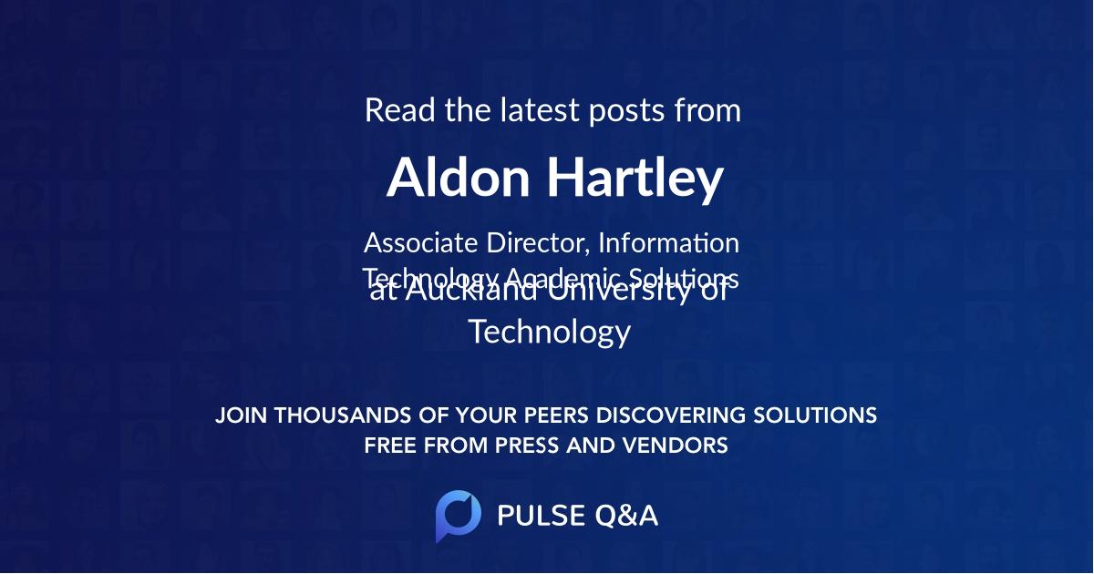 Aldon Hartley