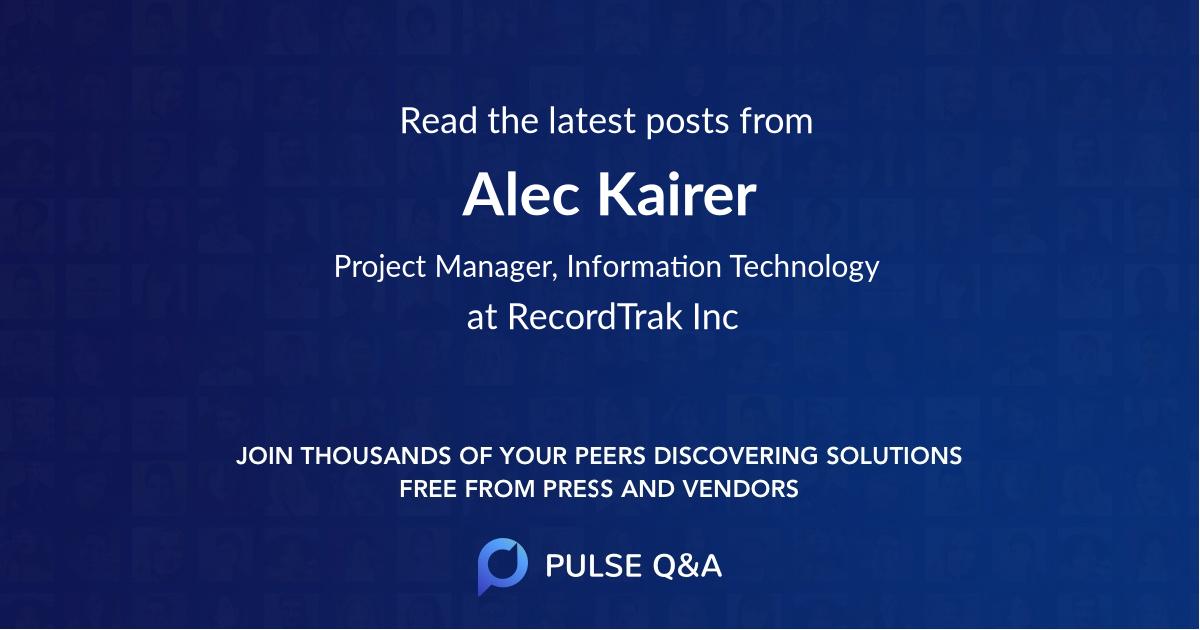 Alec Kairer