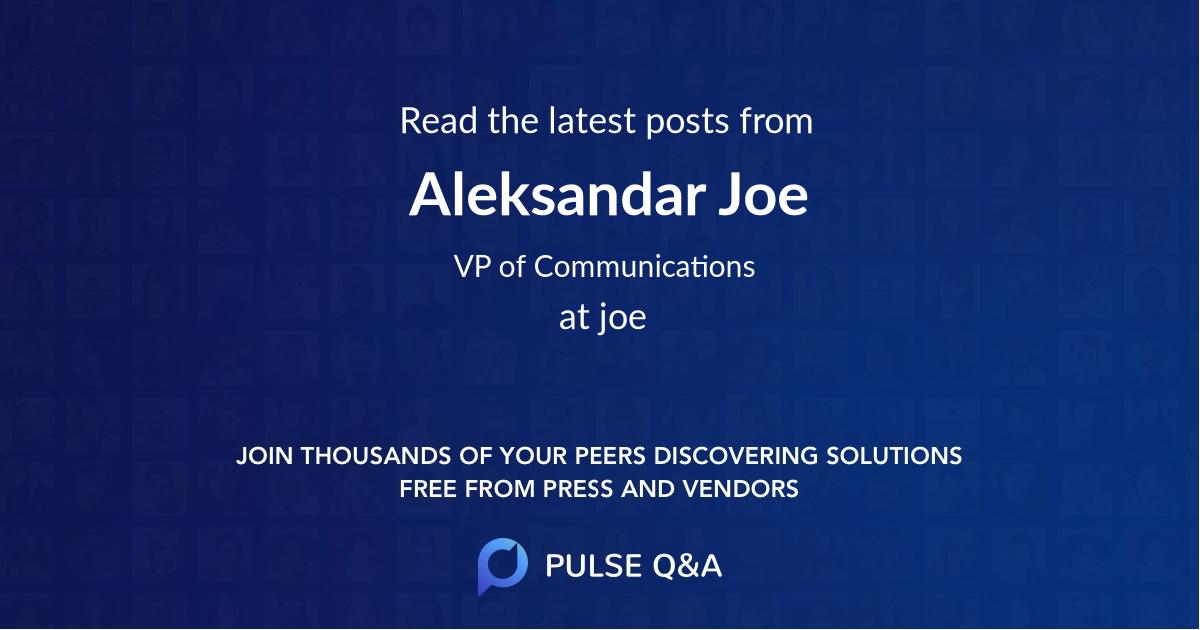Aleksandar Joe
