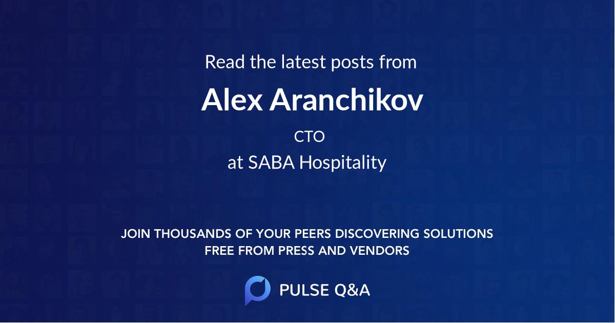 Alex Aranchikov