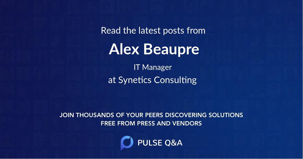 Alex Beaupre