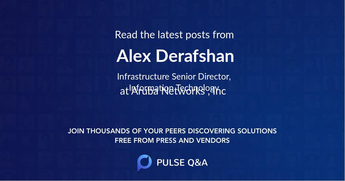 Alex Derafshan