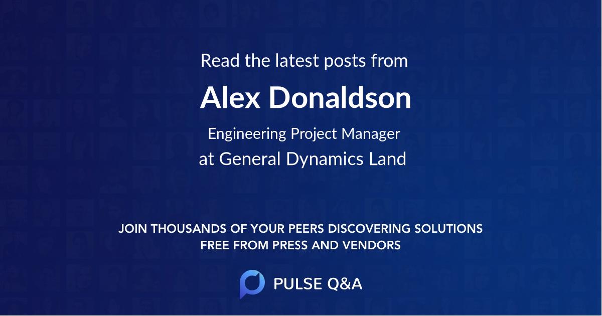 Alex Donaldson