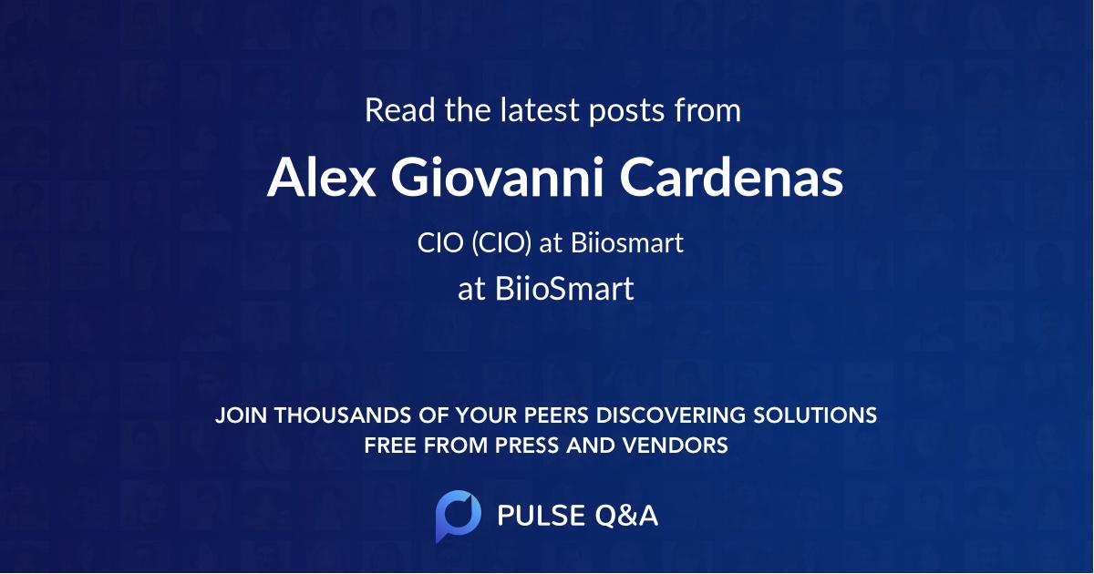 Alex Giovanni Cardenas