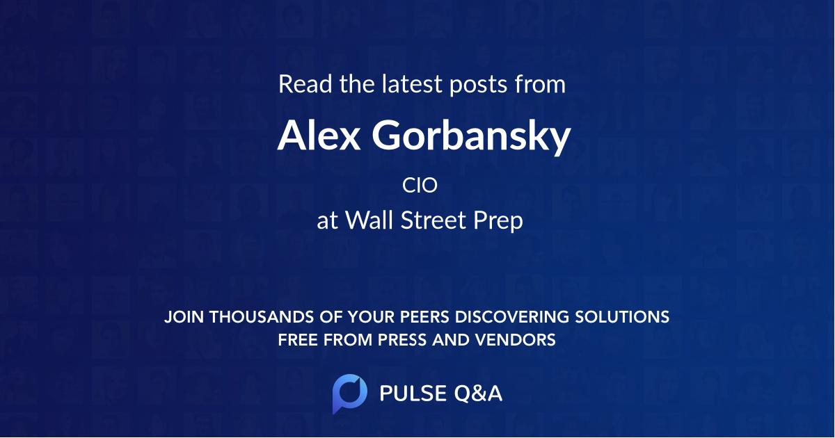 Alex Gorbansky