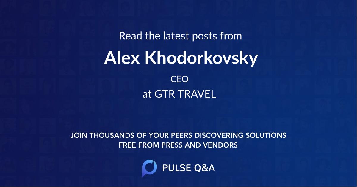 Alex Khodorkovsky