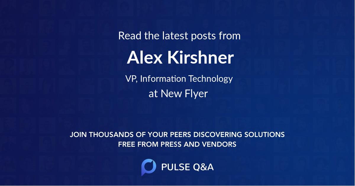 Alex Kirshner