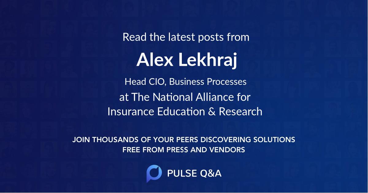 Alex Lekhraj