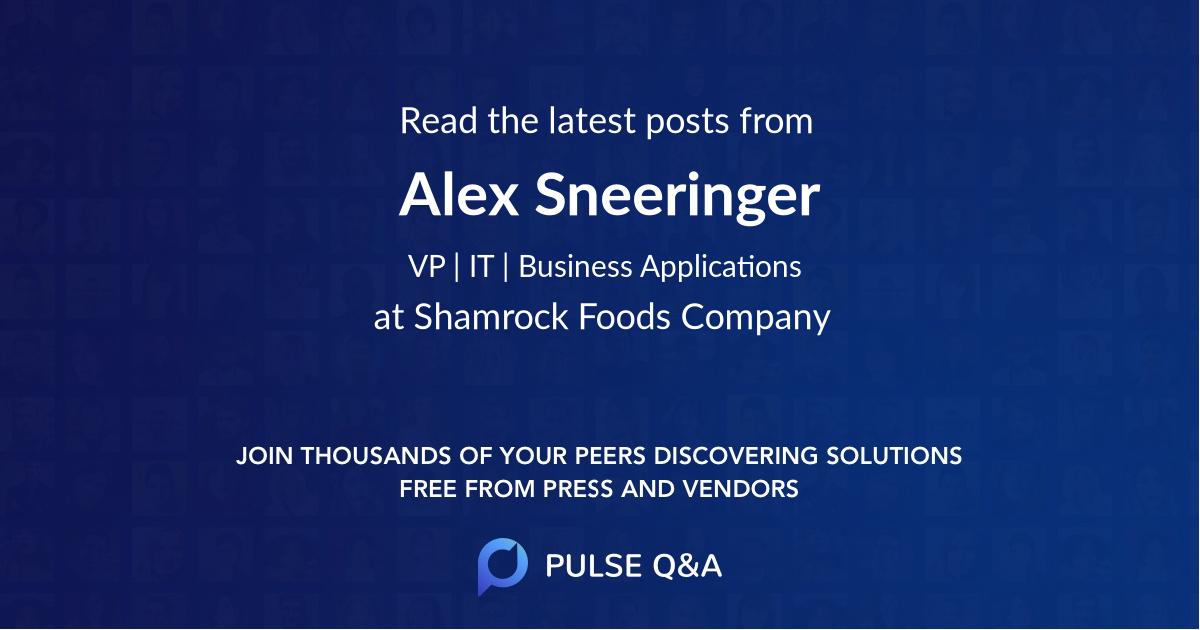 Alex Sneeringer