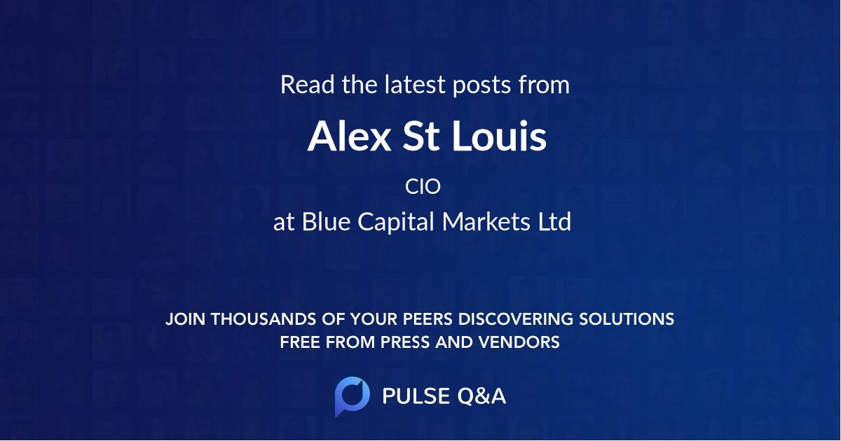 Alex St Louis