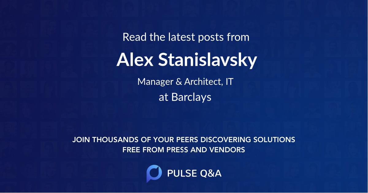 Alex Stanislavsky