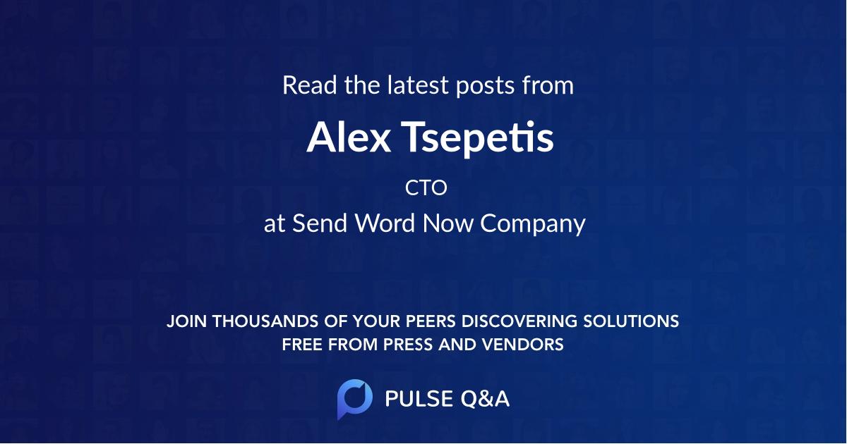 Alex Tsepetis