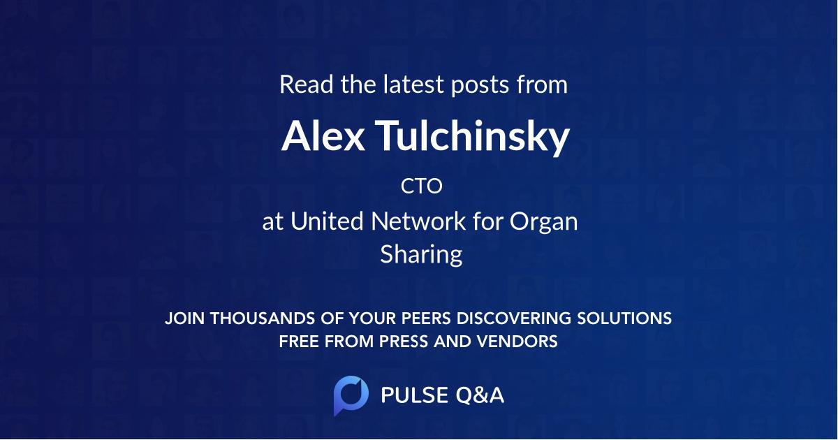 Alex Tulchinsky