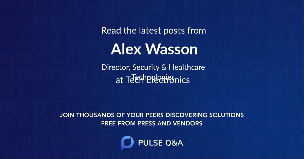 Alex Wasson