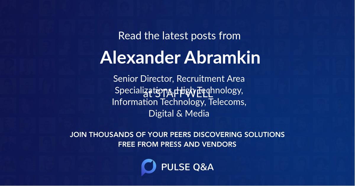 Alexander Abramkin