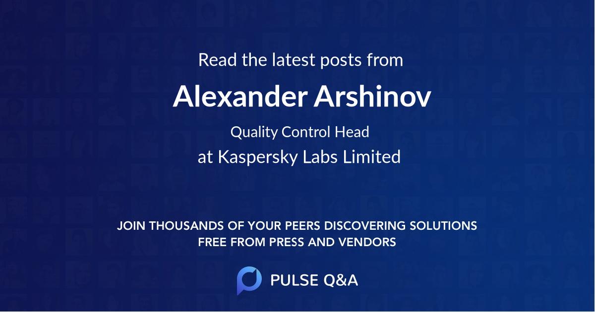 Alexander Arshinov