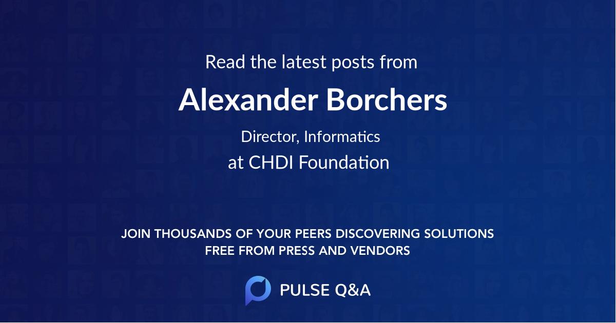 Alexander Borchers