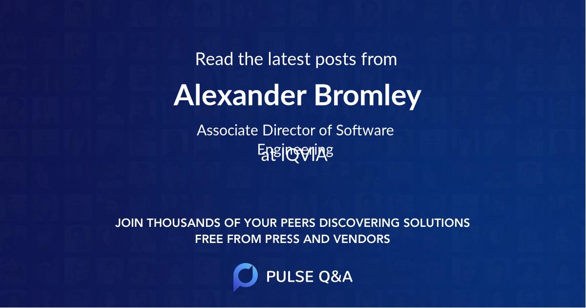 Alexander Bromley