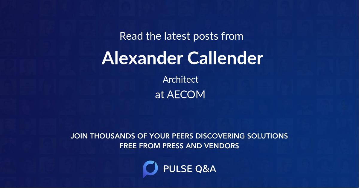 Alexander Callender