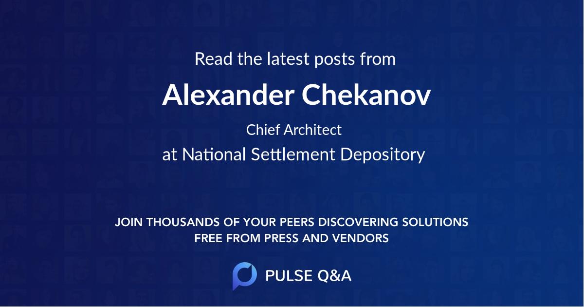 Alexander Chekanov