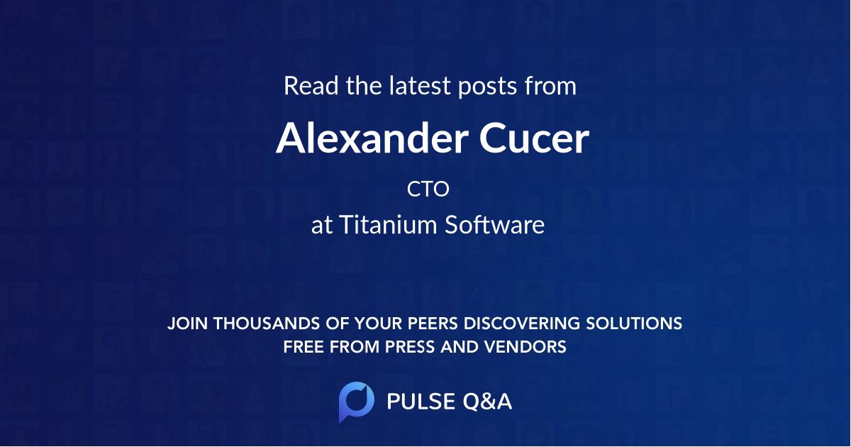 Alexander Cucer
