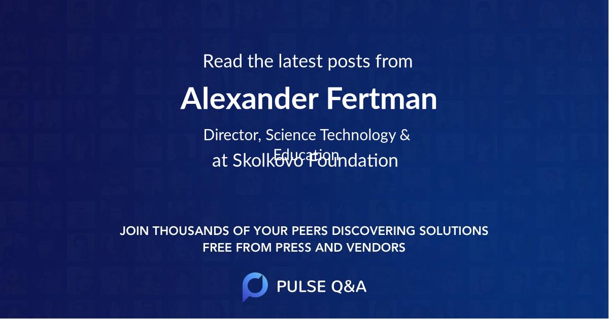 Alexander Fertman