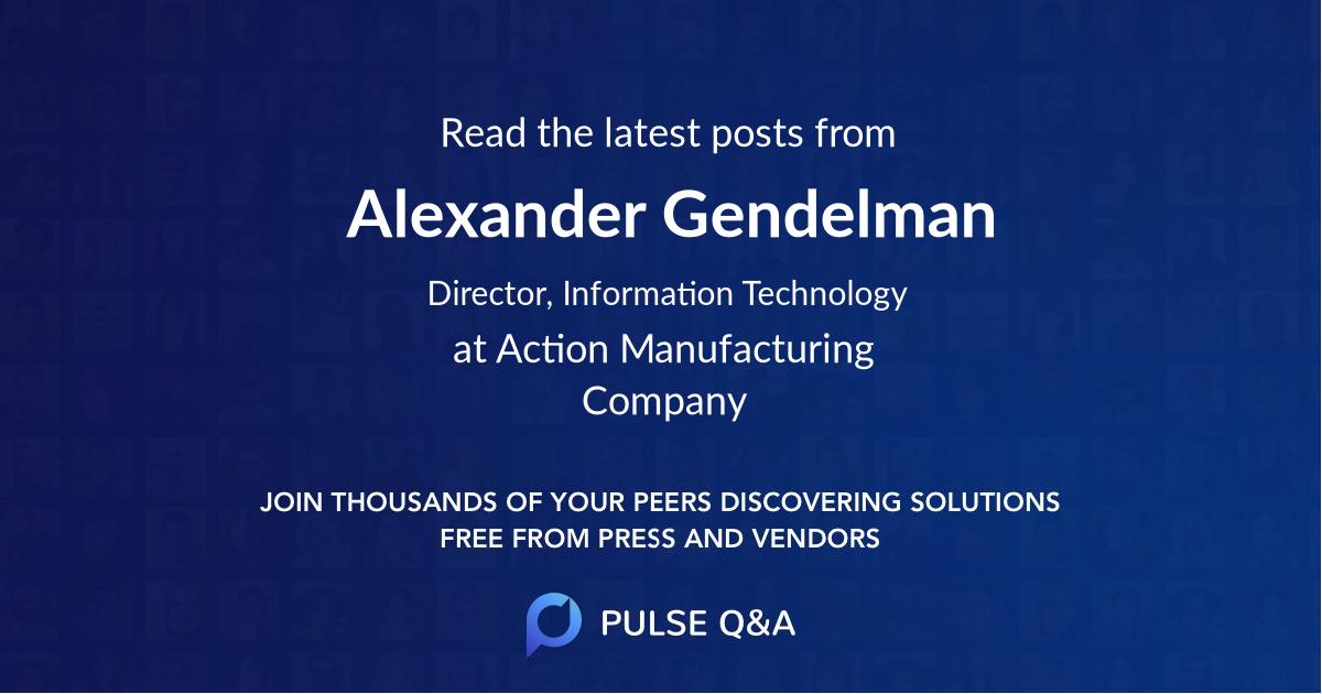 Alexander Gendelman