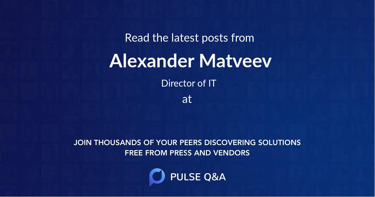 Alexander Matveev