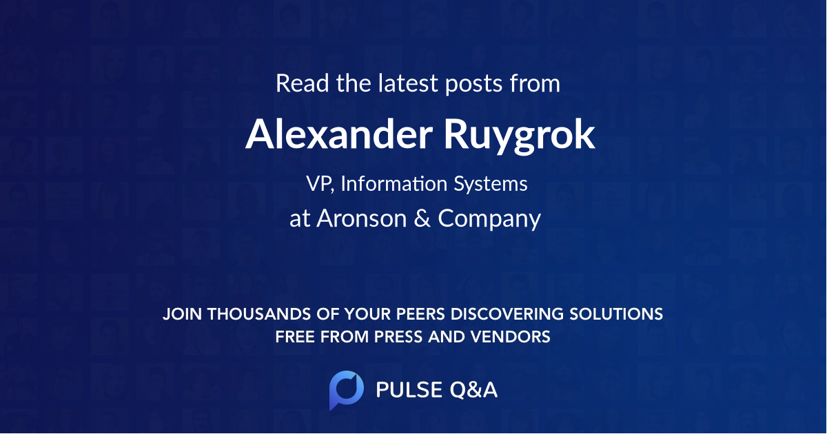 Alexander Ruygrok