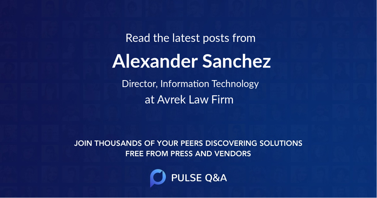Alexander Sanchez