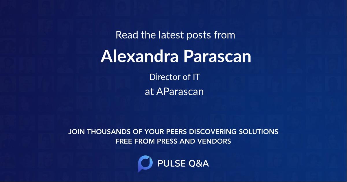 Alexandra Parascan