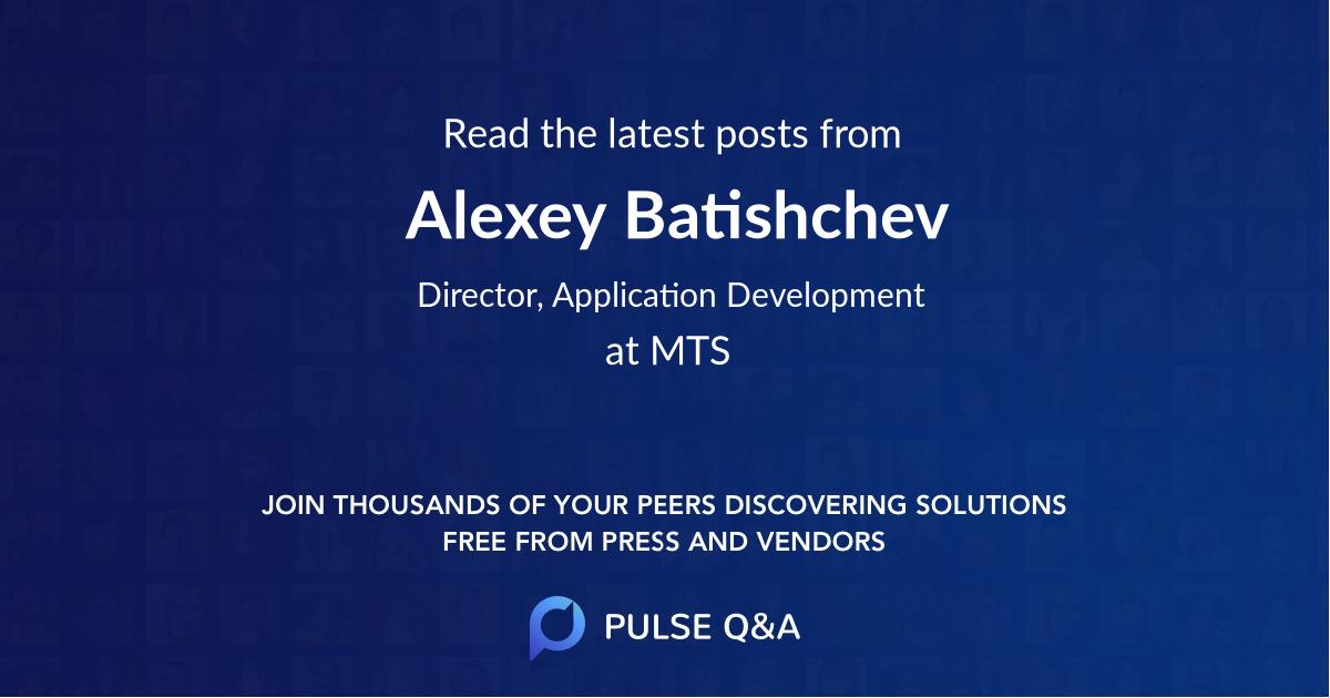 Alexey Batishchev