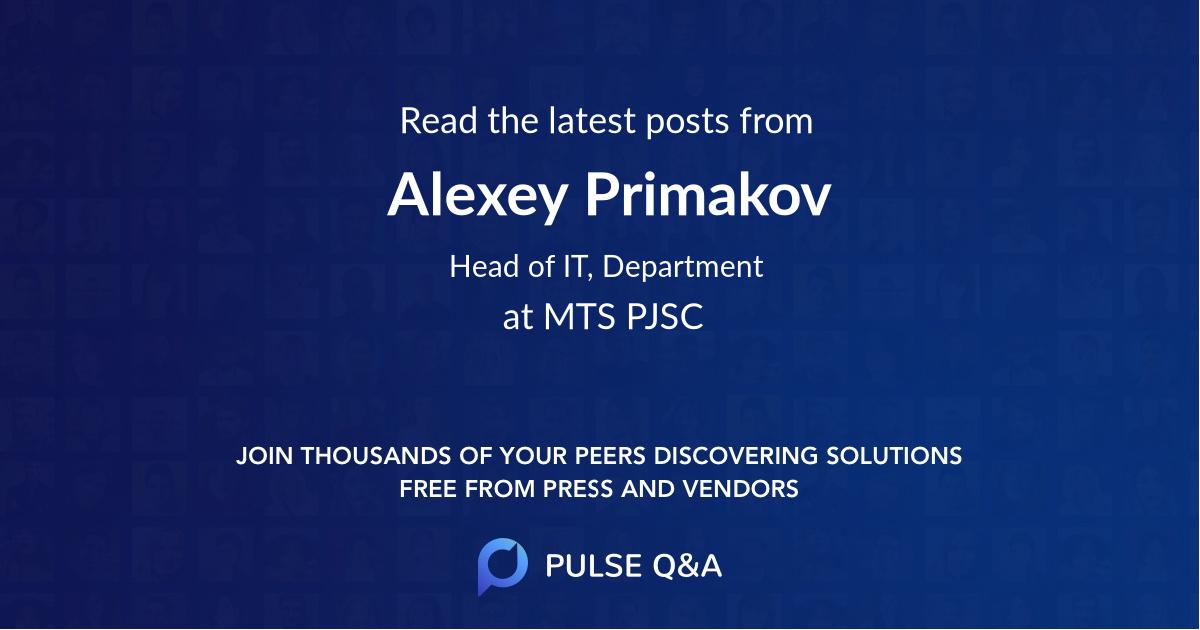 Alexey Primakov