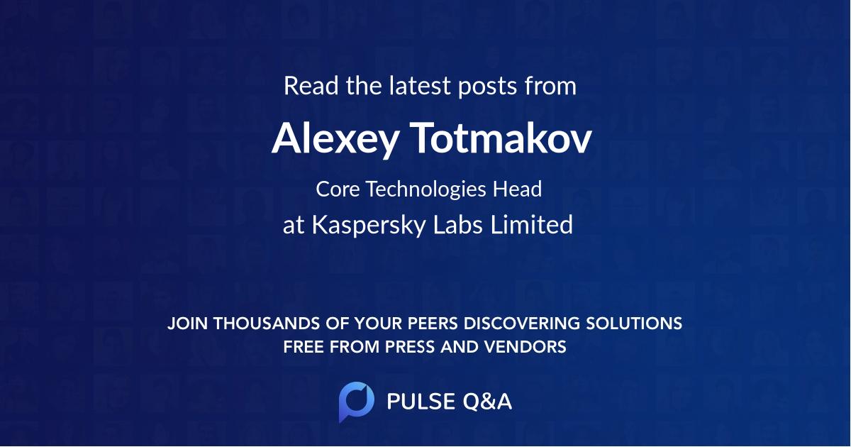 Alexey Totmakov