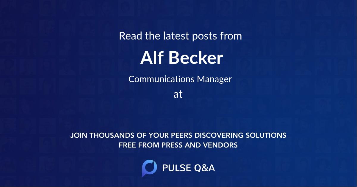Alf Becker