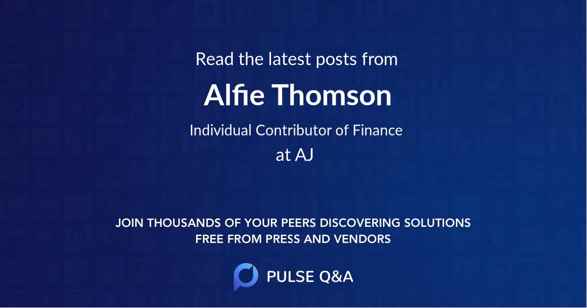 Alfie Thomson