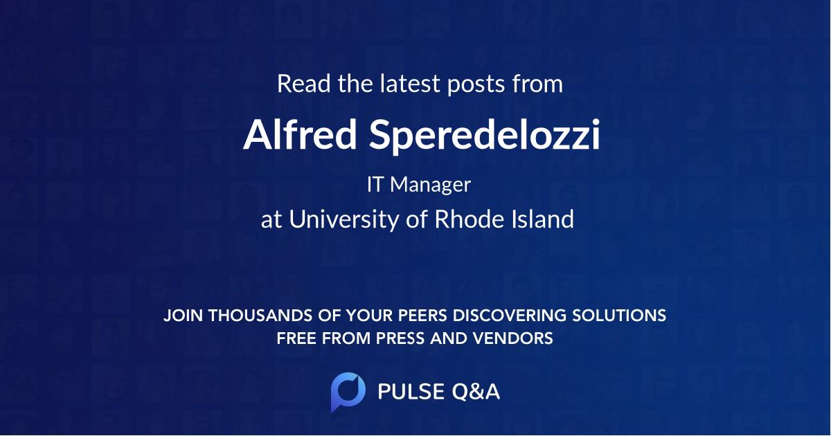 Alfred Speredelozzi