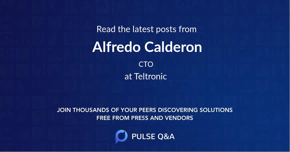 Alfredo Calderon