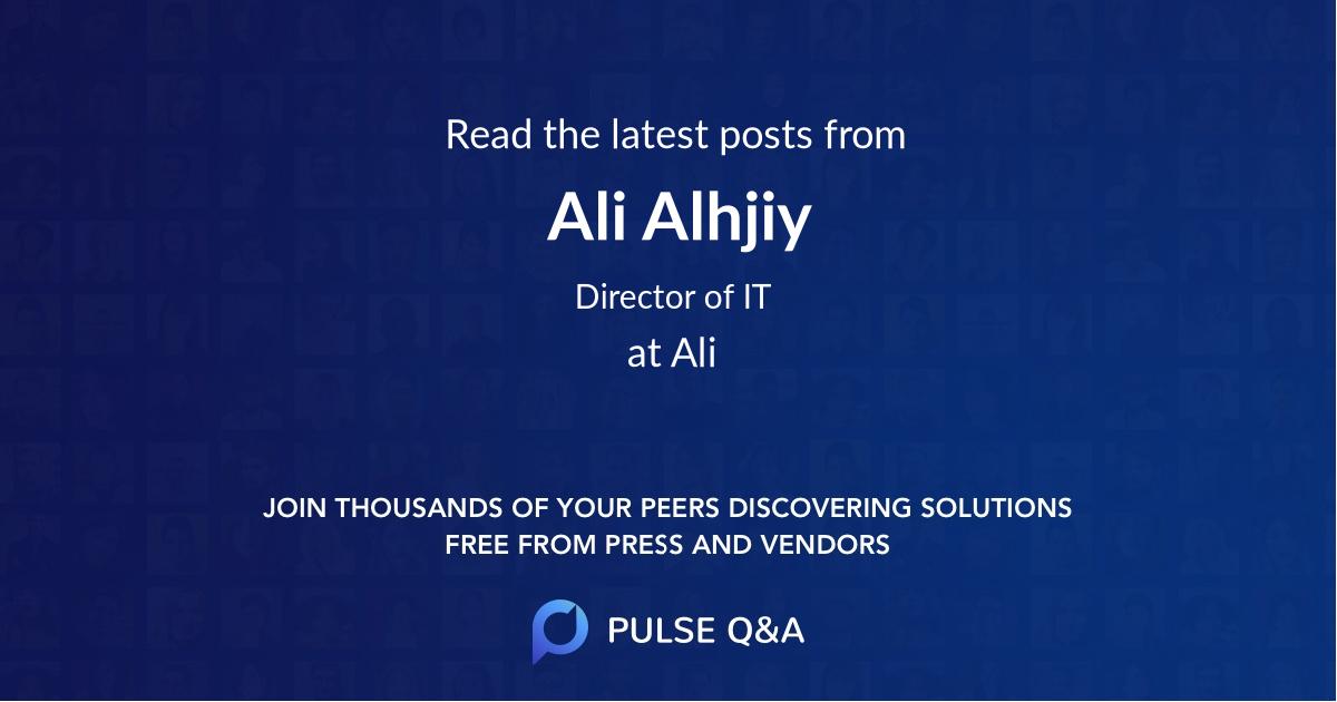 Ali Alhjiy