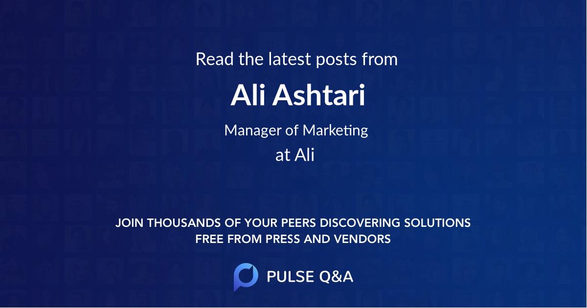 Ali Ashtari