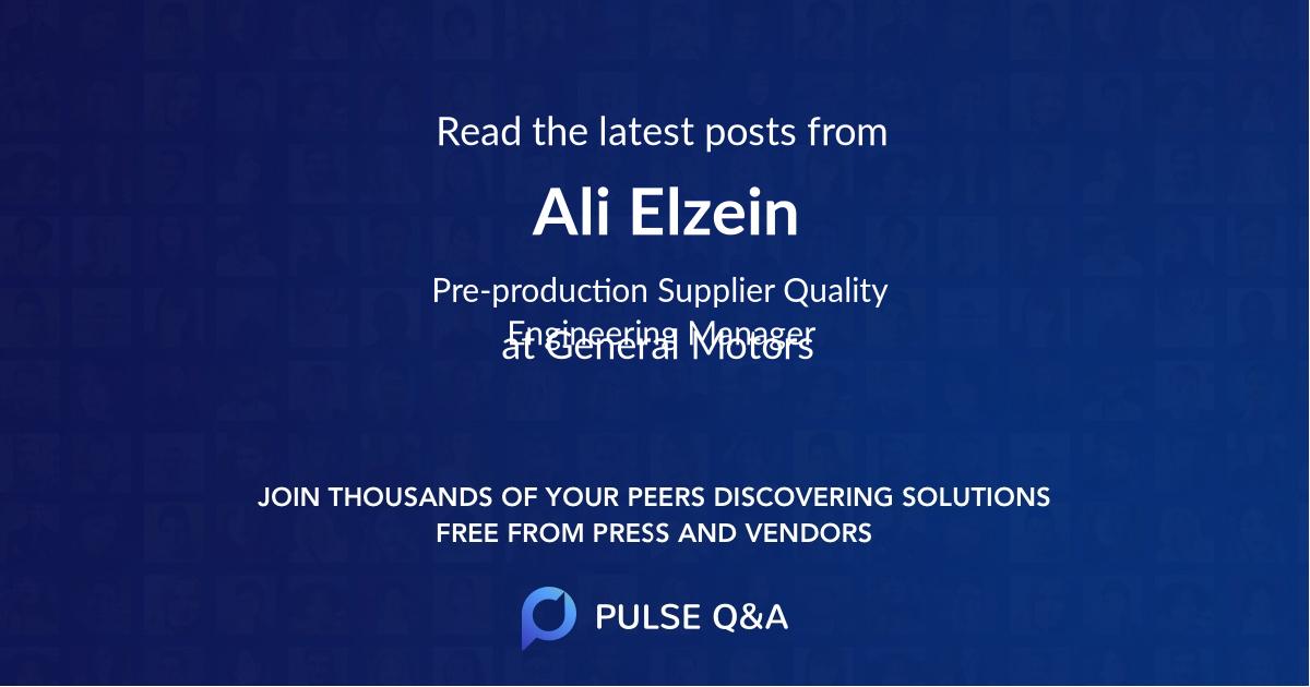 Ali Elzein