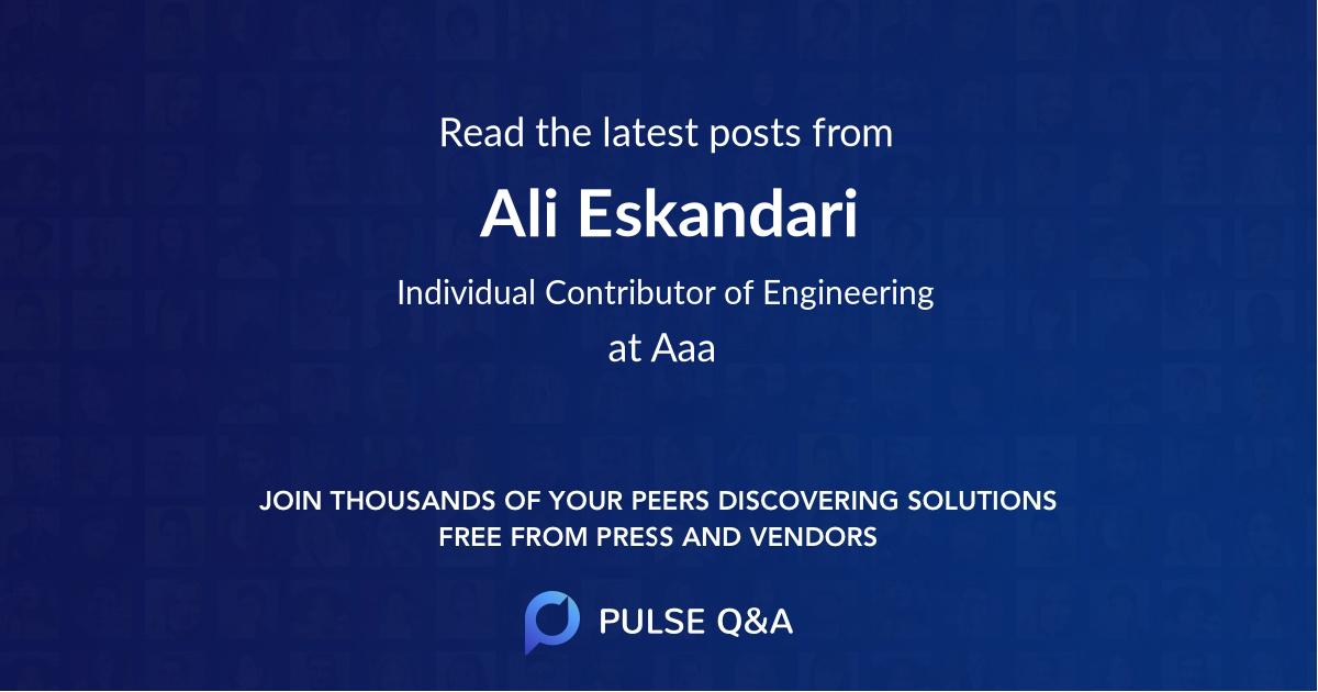 Ali Eskandari