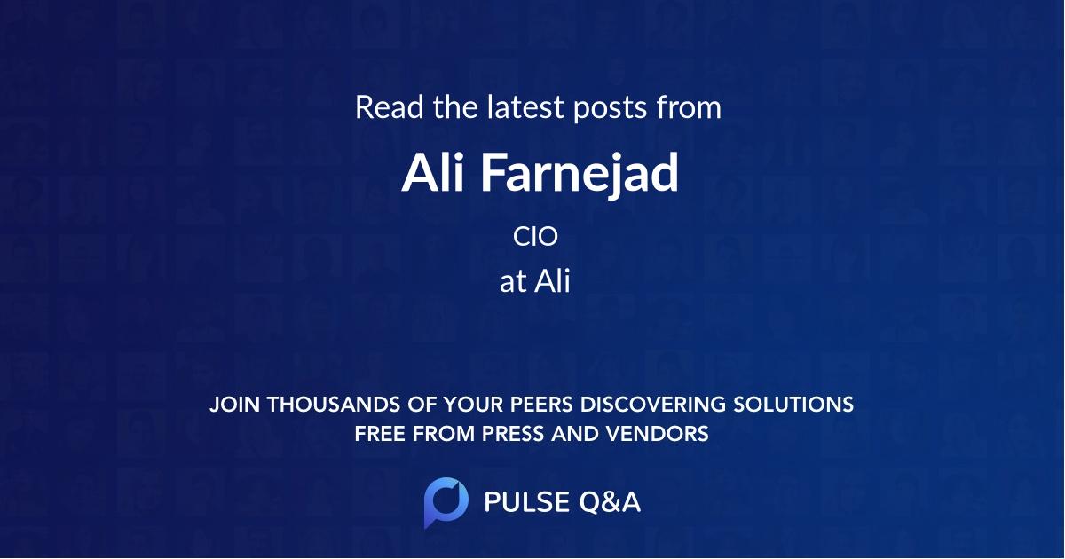Ali Farnejad