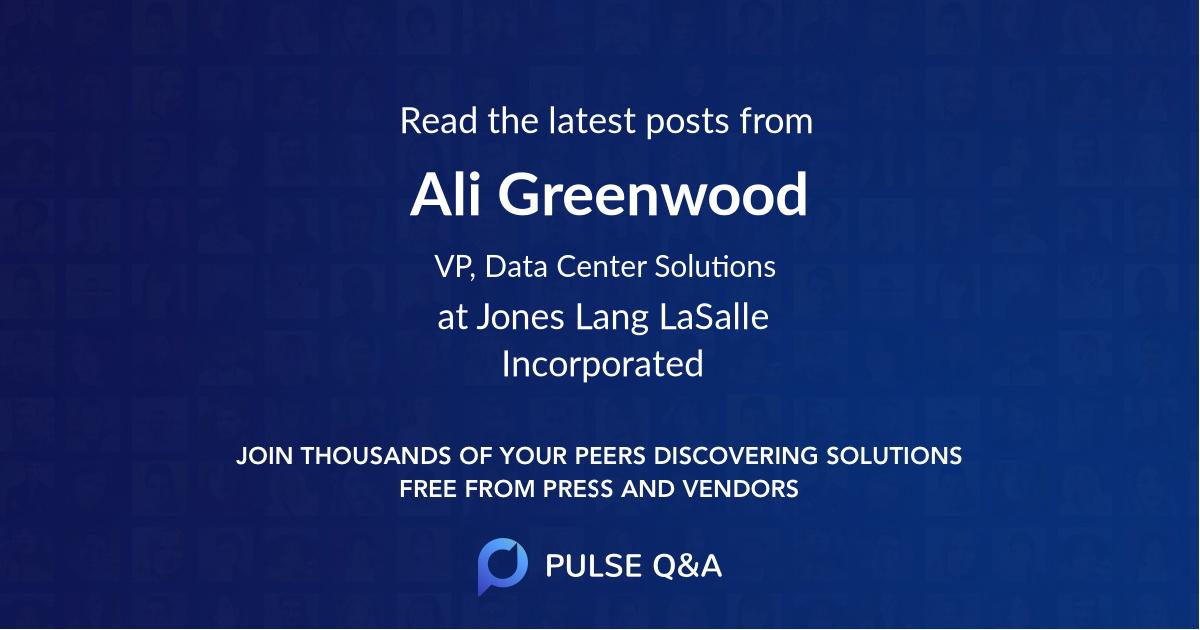 Ali Greenwood