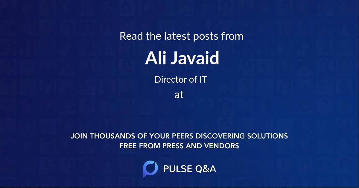 Ali Javaid