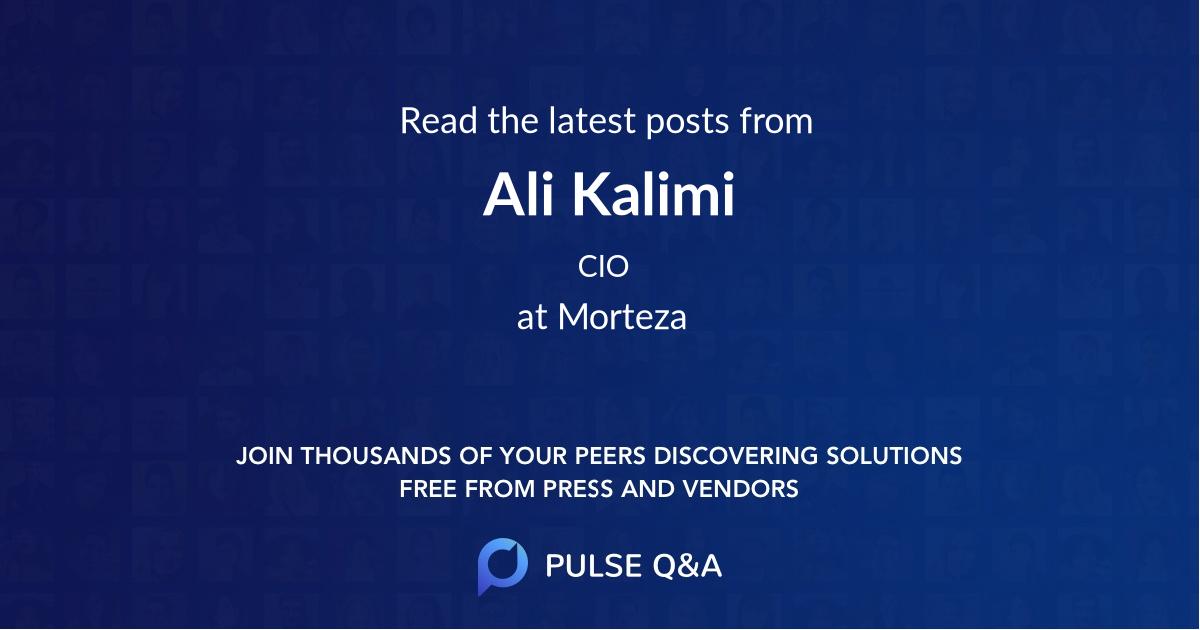 Ali Kalimi