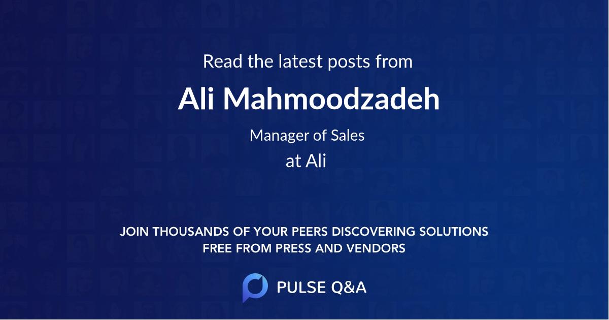 Ali Mahmoodzadeh