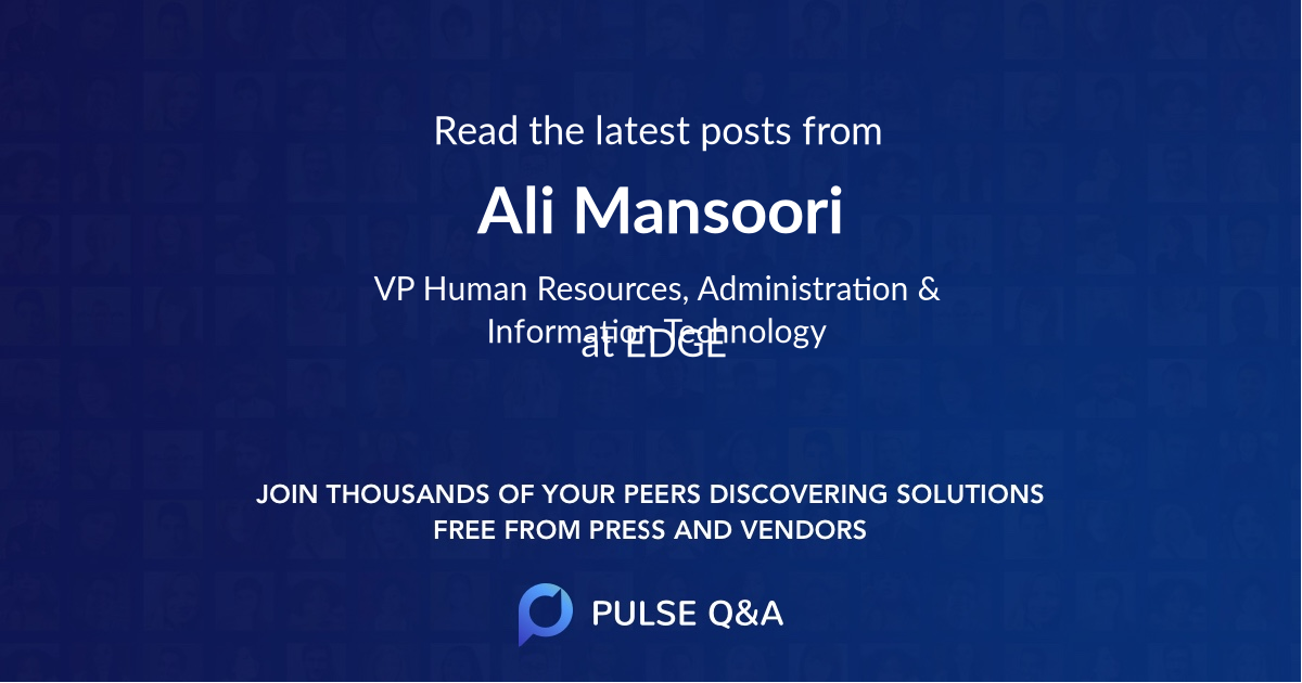 Ali Mansoori