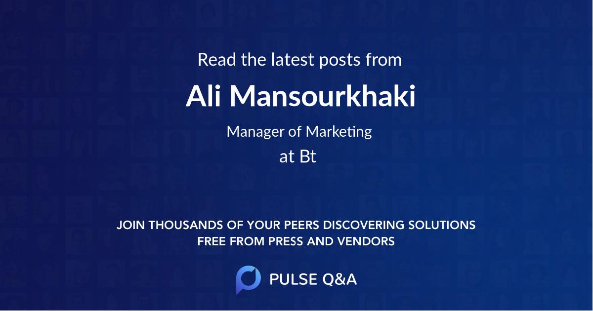 Ali Mansourkhaki